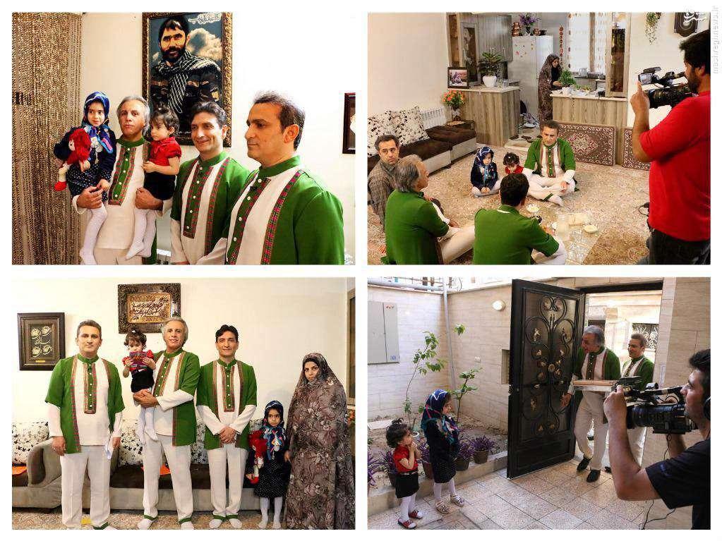 عموهای فتیلهای در منزل شهید مدافعحرم