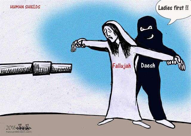 کاریکاتور نشریه دیلی استار از جنایت داعش در فلوجه