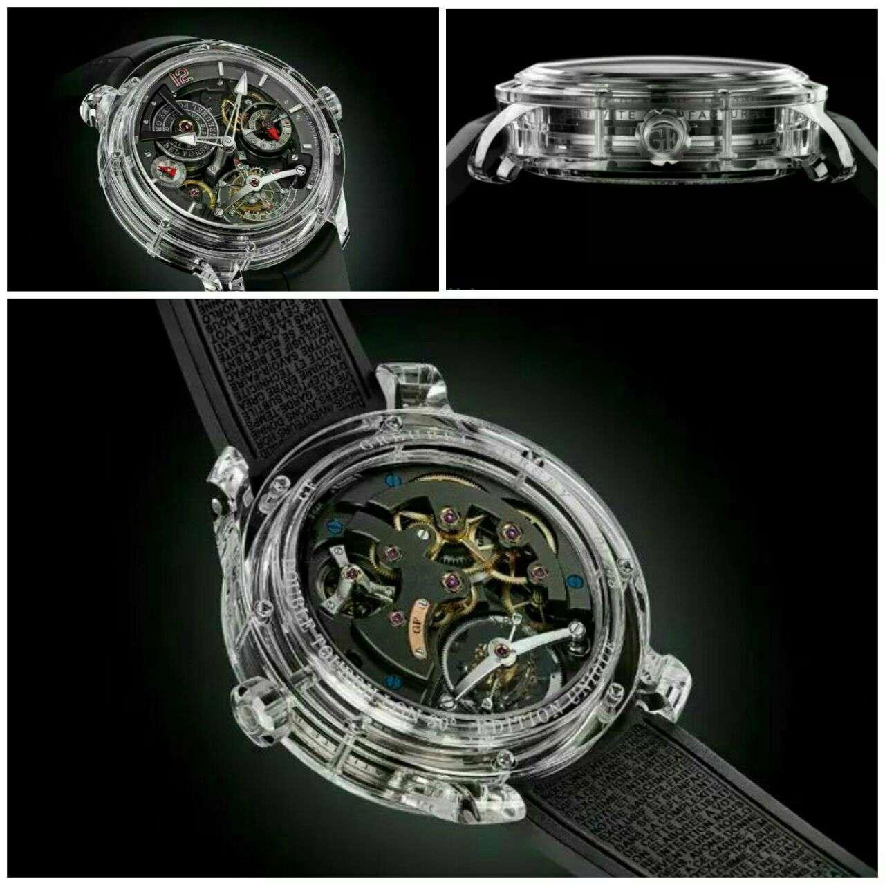 """قیمت این ساعت """"شیشه ای"""" یک میلیون دلار است"""