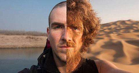 یک جهانگرد قبل و بعد از 4000 کیلومتر پیاده روى از چین تا آلمان
