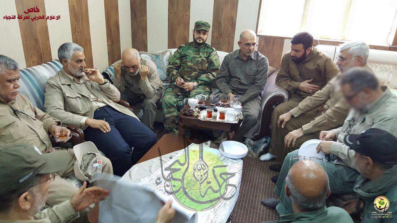 حضور سردار سلیمانی در اتاق عمليات آزاد سازی فلوجه