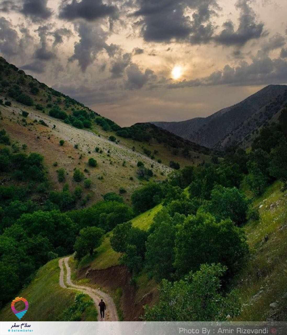 منظره زيباي اورامانات در استان کرمانشاه