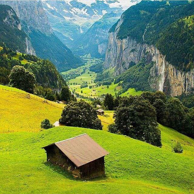 طبیعت زیبای سوییس