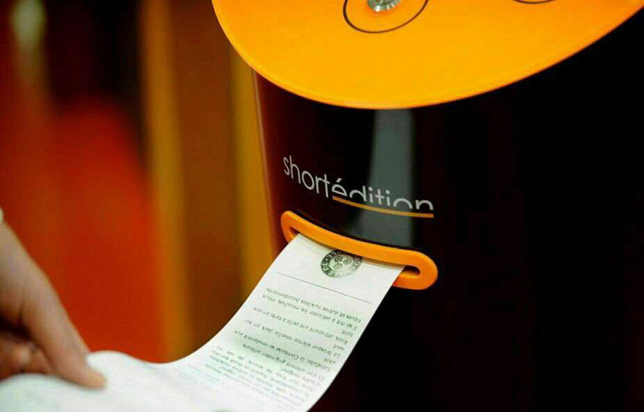 دستگاه خودپردازى در فرانسه وجود دارد که داستانهاى کوتاه رايگان به مردم میدهد