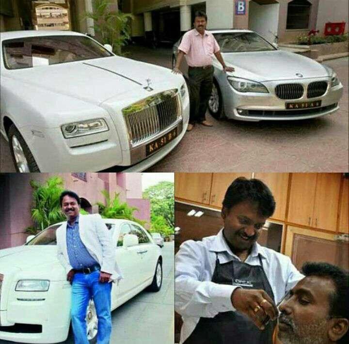 این مرد میلیارد هندی با وجود داشتن ثروت فراوان عاشق کار ساده ی خودش یعنی سلمانی است!