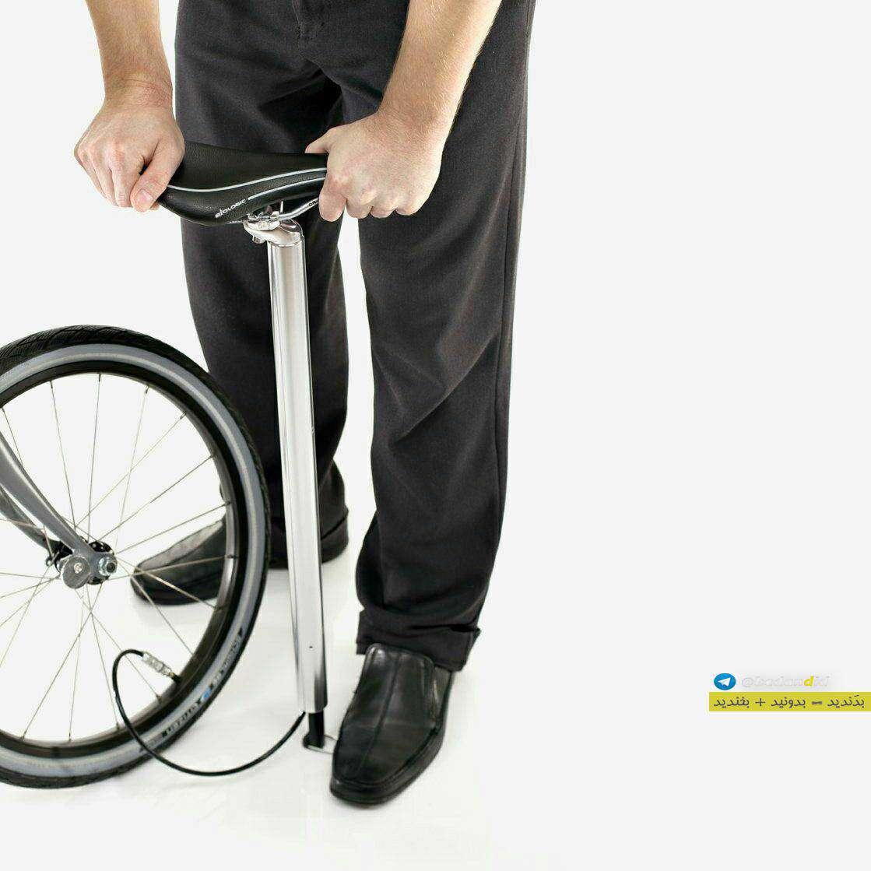 قرار دادن خلاقانه لوازم جانبی دوچرخه در خود دوچرخه به شکلی جالب