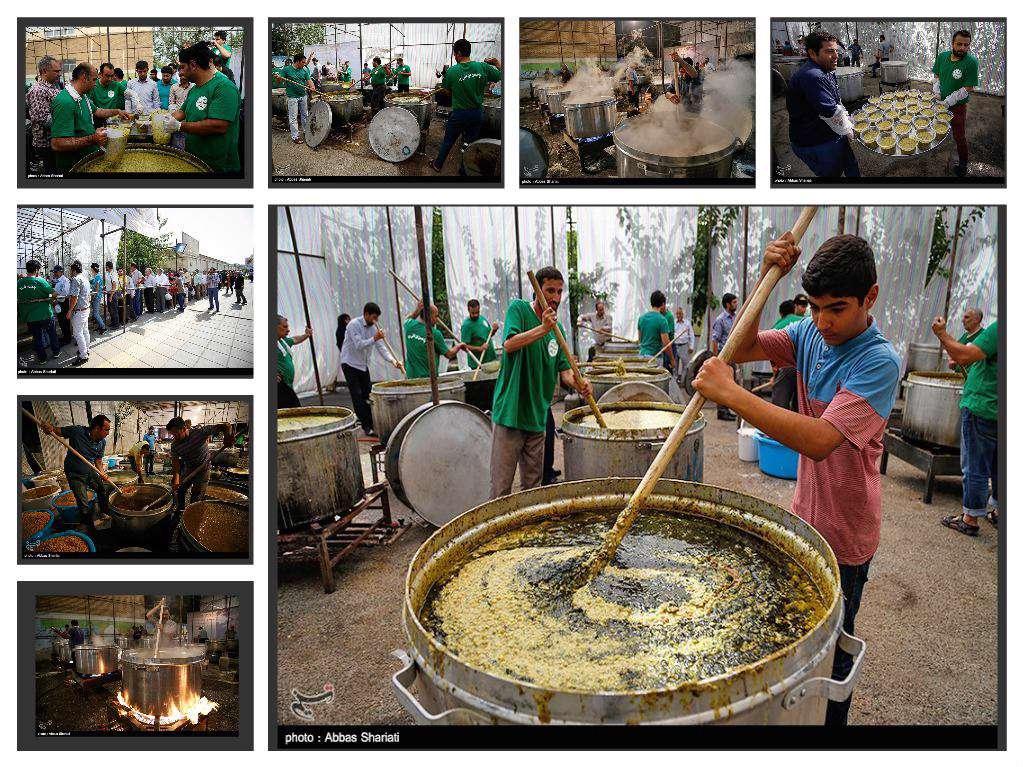 پخت و توزیع ۱۴ تن آش نذری در کرج