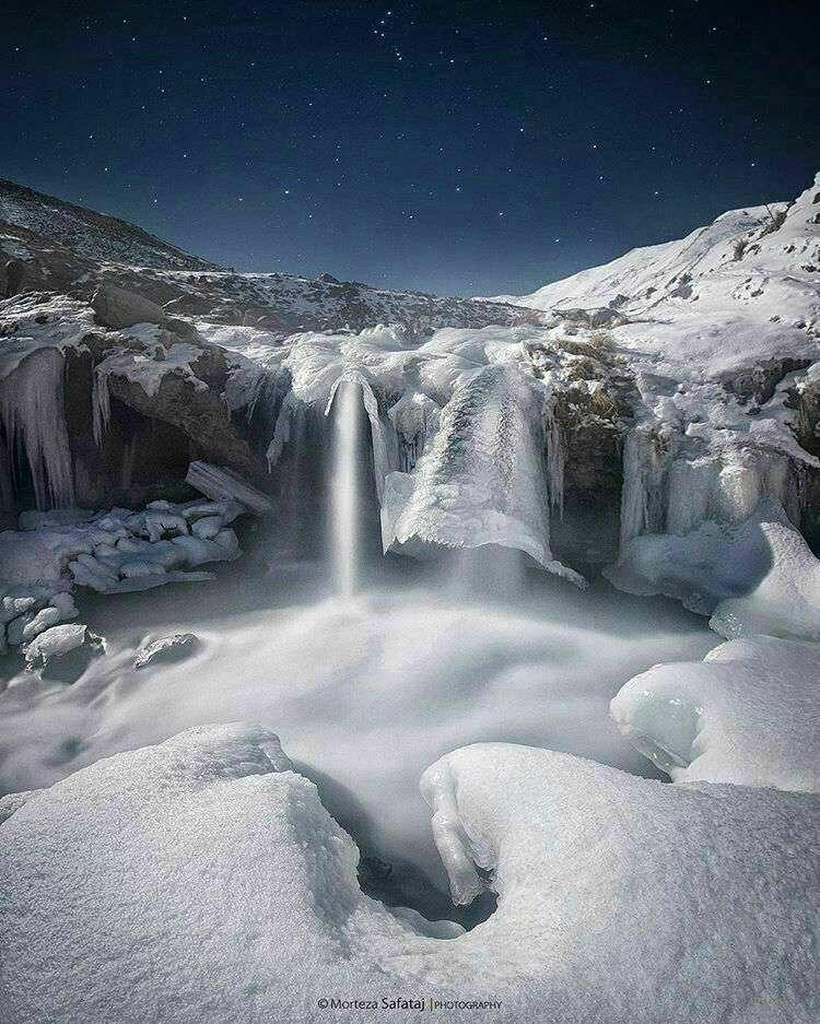 اینجا قطب شمال نیست!  آبشاری به نام گورگور ملک سویی در مشکین شهر استان اردبیل است.