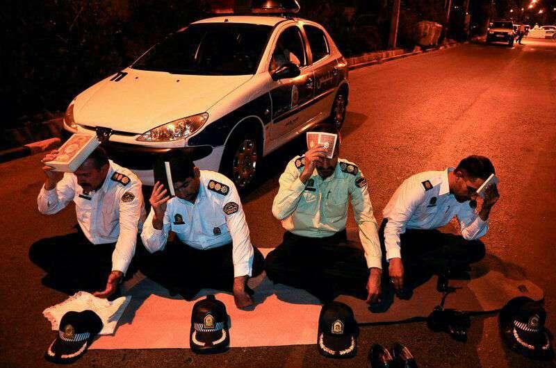شب احیای پلیس های زحمت کش
