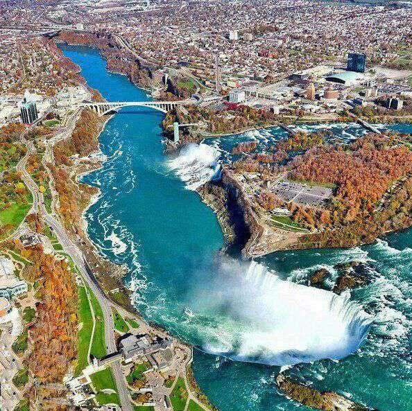 نمایی دیدنی از آبشار نیاگارا