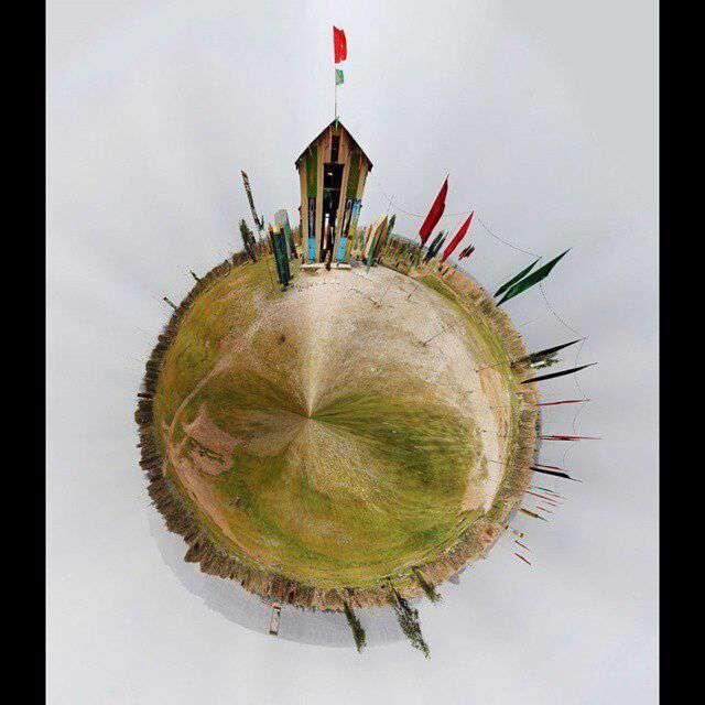 عکس کروی از حسینیه گردان تخریب پادگان دوکوهه