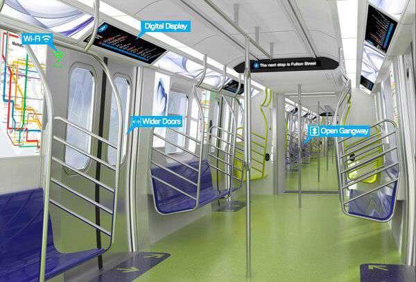 واگن های جدید مترو نیویورک به وای فای، پورت USB و دیگر تجهیزات دیجیتالی مجهز خواهند بود