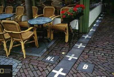 تصویر جالب از خط مرزی هلند و بلژیک