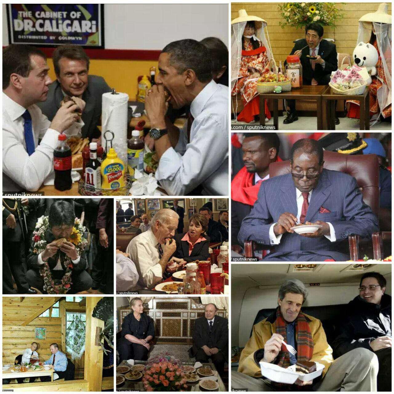 غذا خوردن غیر رسمی سیاستمداران جهان
