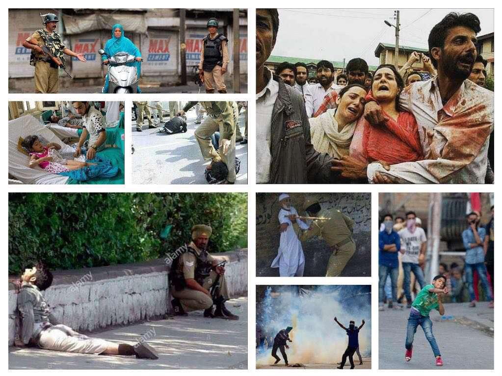 سرکوب اعتراضات مردمی در کشمیر هند