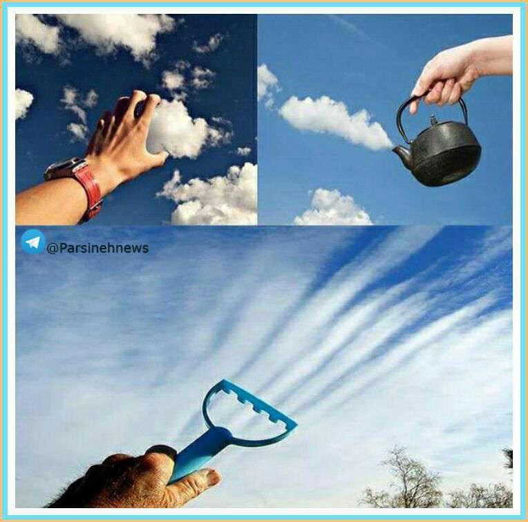 عکس های خلاقانه با ابر
