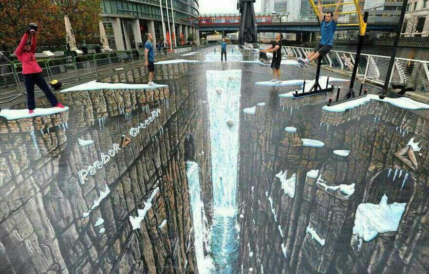 طراحی خارق العاده سه بعدی خیابان که هر چشمی را به سمت و سوی خود خیره می کند