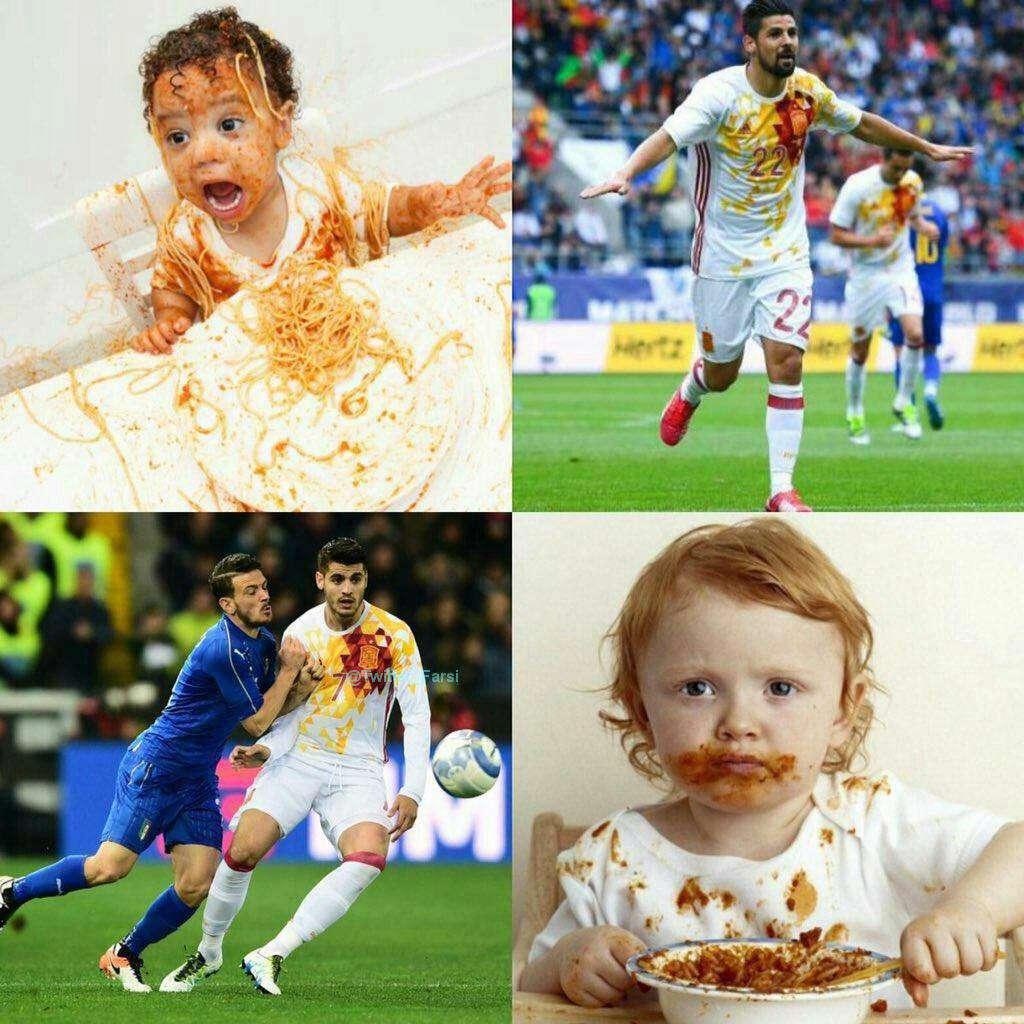 شوخی کاربران شبکه های اجتماعی با طرح پیراهن تیم ملی اسپانیا