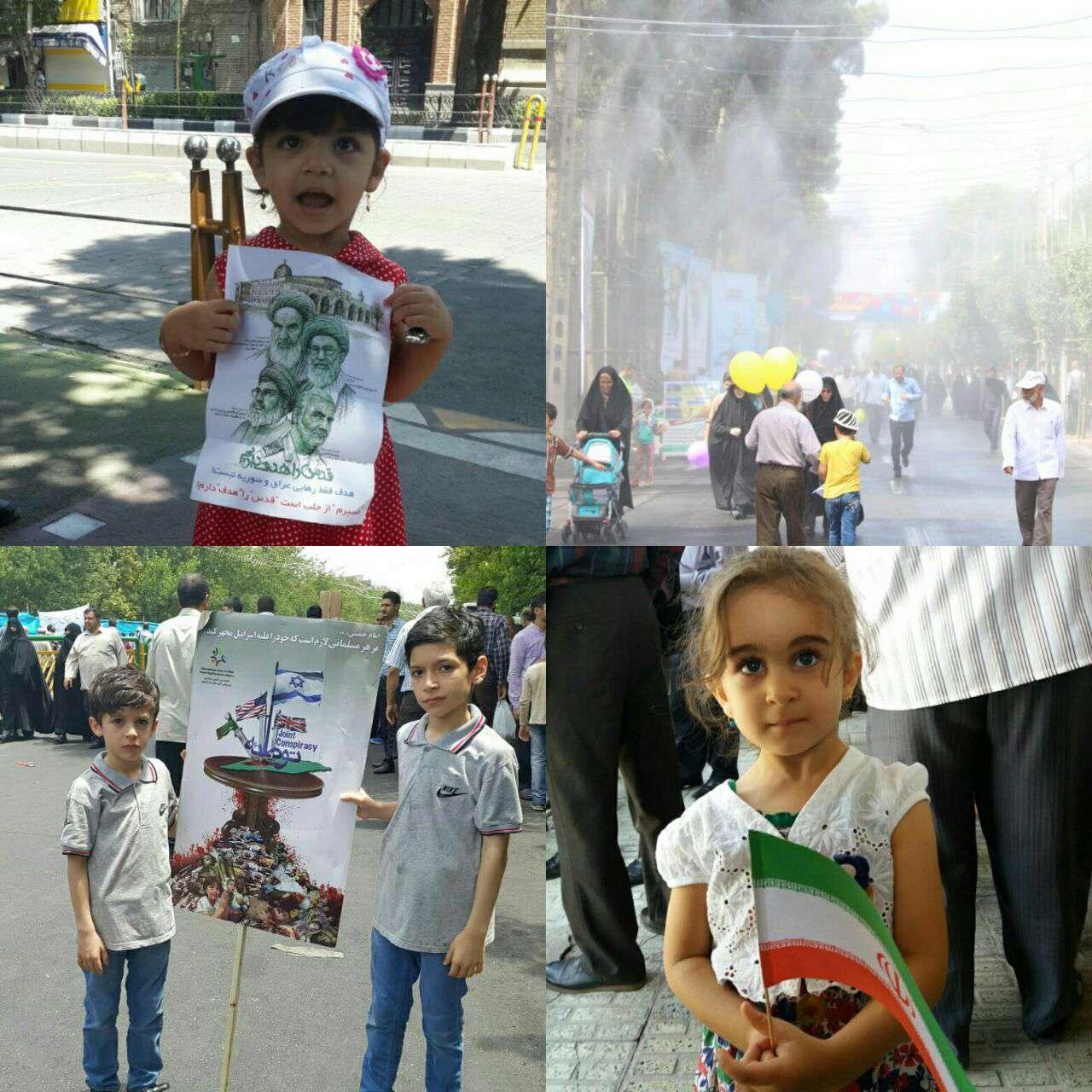 عکس های ارسالی همراهان عزیز کانال خبر فوری از راهپیمایی روز قدس