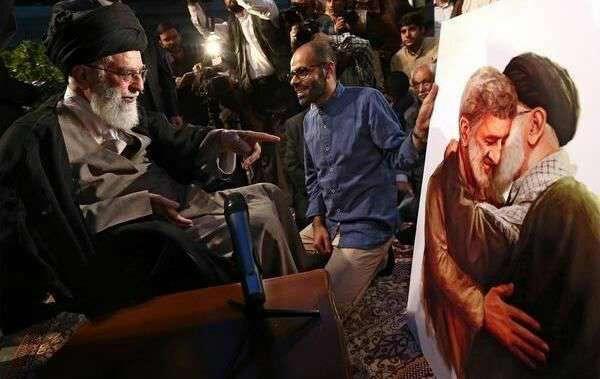 تابلویی که به رهبر انقلاب اهدا شد