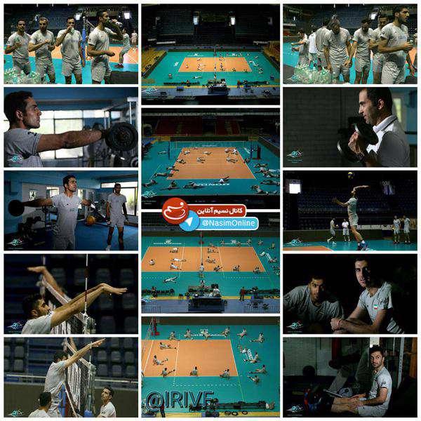 نخستین تمرین تیم ملی والیبال در بلگراد