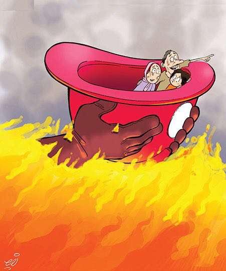 تصویری متفاوت از فداکاری آتش نشان جوان