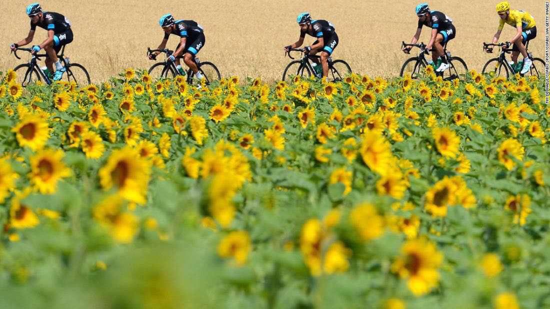 تصویری زیبا از رقابت های دوچرخه سواری توردوفرانس