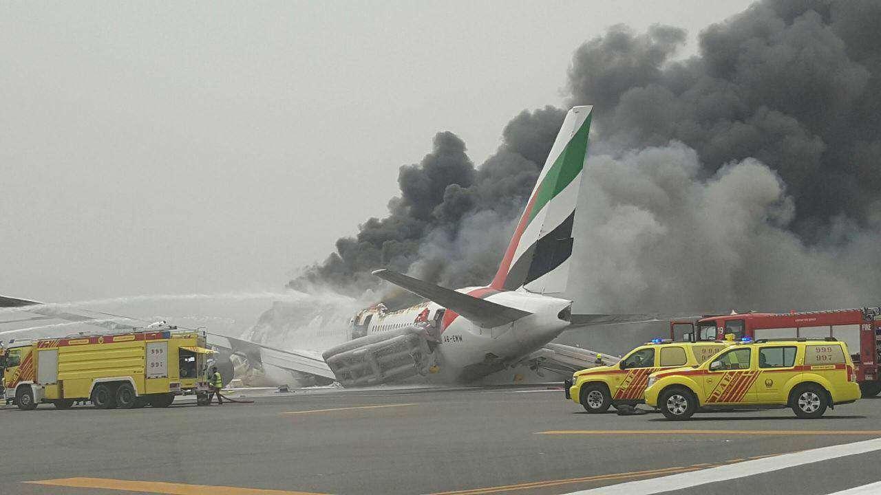 تصویر جدید از سانحه در فرودگاه دوبی