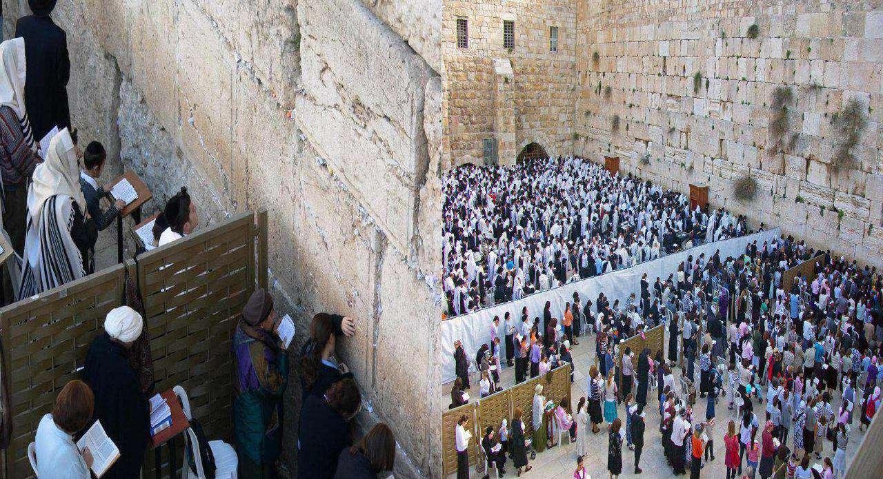 یهودیان هم درمراسم مذهبی، زن ها و مردها را از هم جدا میکنند