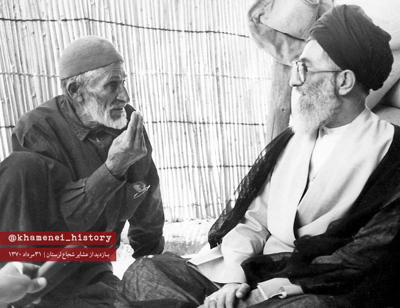 بازدید رهبرانقلاب از عشایر شریف استان لرستان | ۳۱ مرداد ۱۳۷۰