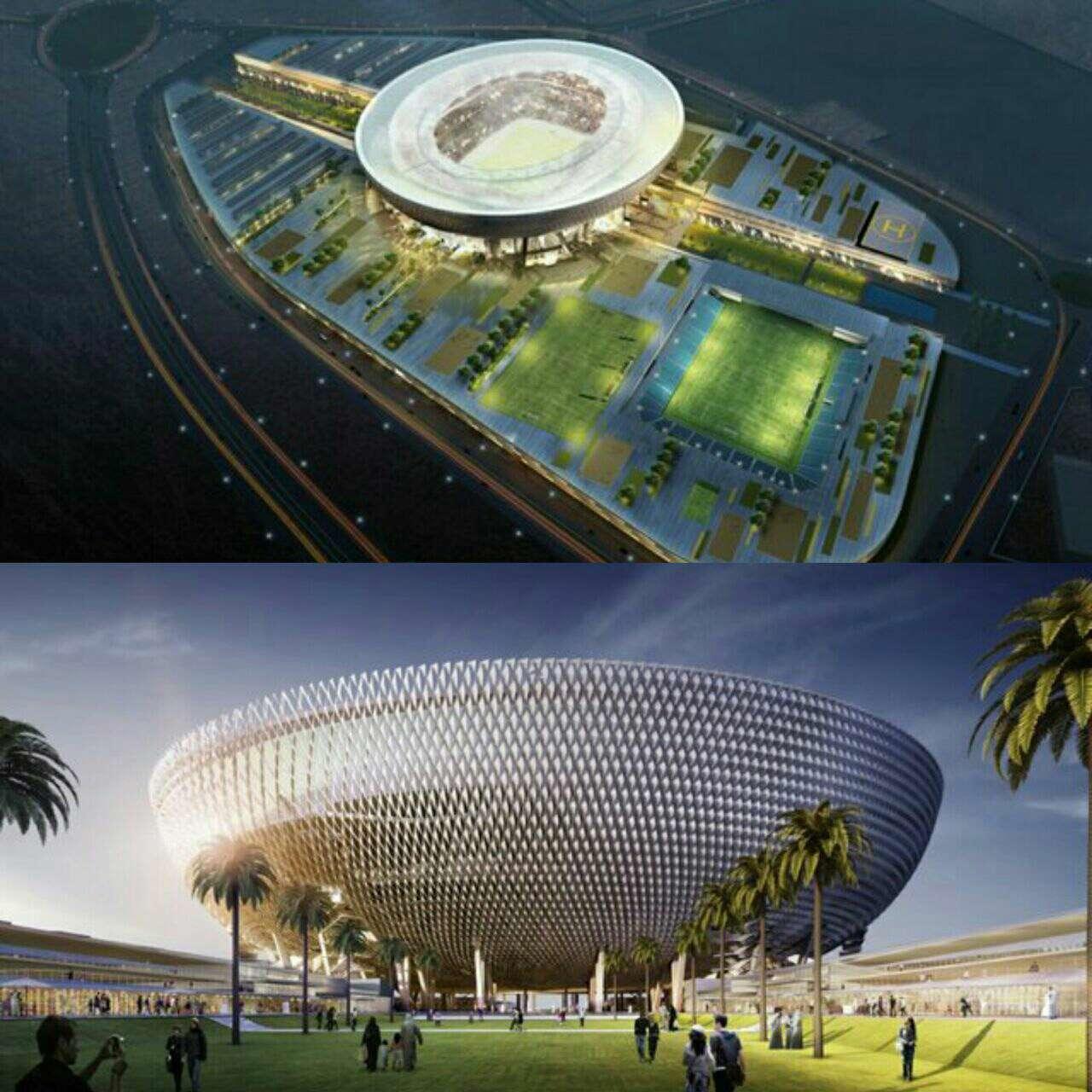 استادیوم کاسه مانند بزرگی در امارات ساخته شده که به مدد طراحی هوشمندی که دارد در گرمای طاقت فرسای این کشور به طور طبیعی خنک می ماند