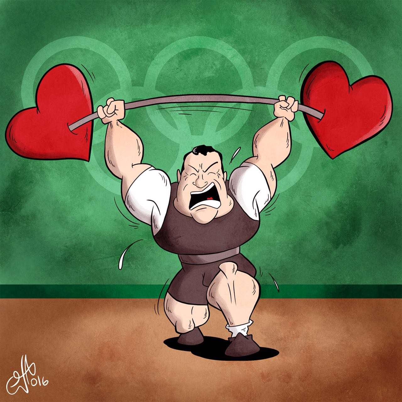 چیزی که بالای سرت بردی ۲۴۵ کیلوگرم فولاد نبود،  ۸۰ ميليون قلب بود!