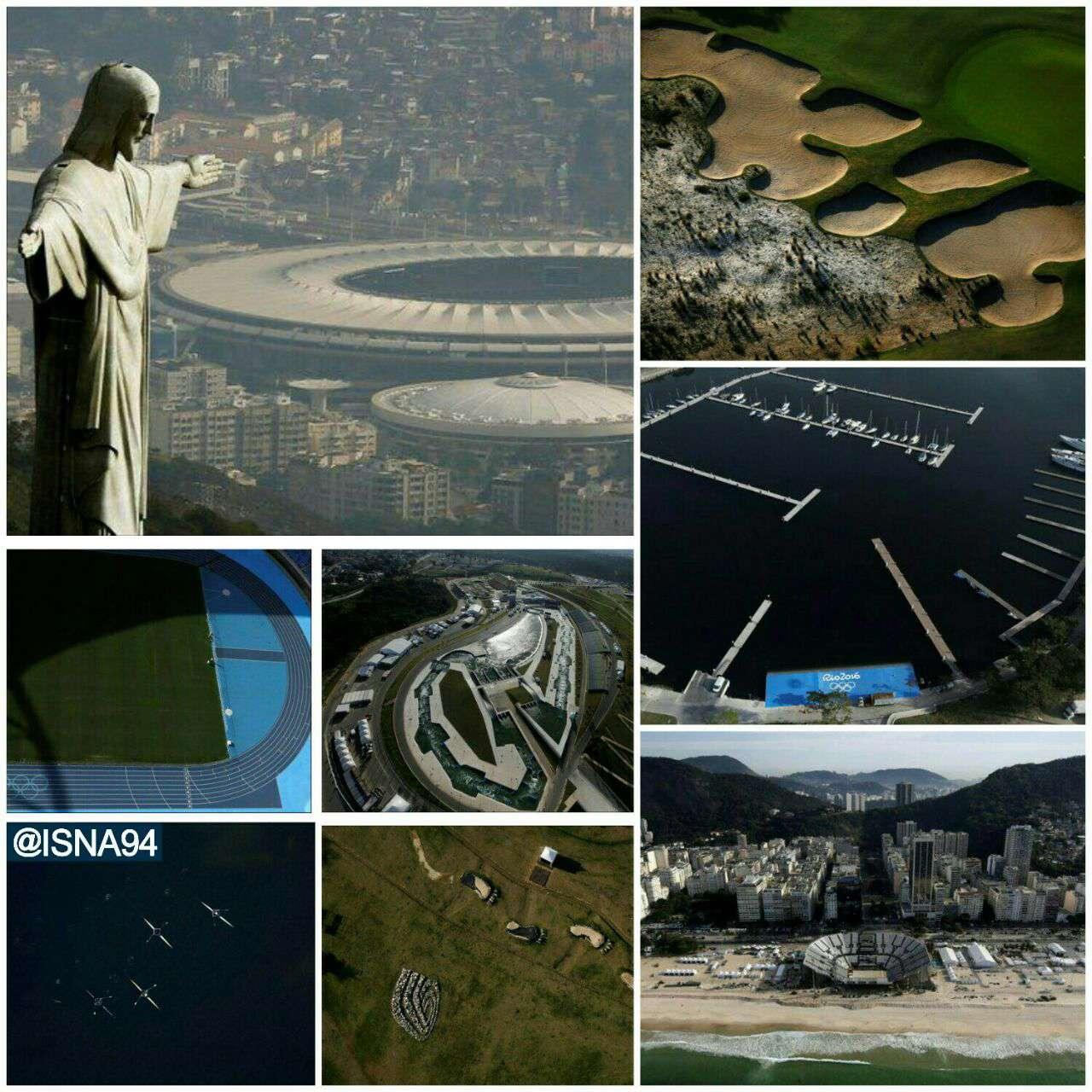 عکسهای هوایی ازمحل برگزاری بازیهای المپیک ریودوژانیرو