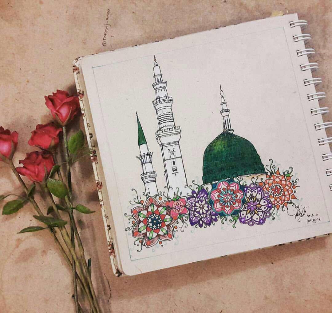 نقاشی از مسجدالنبی(ص)