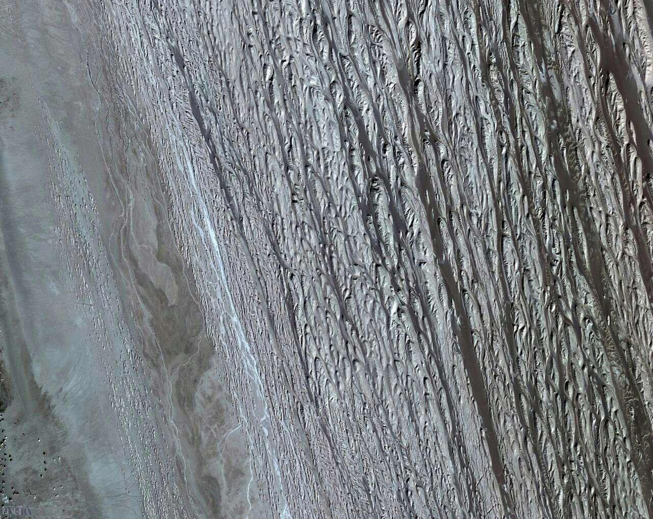 عکس فضایی از دشت لوت