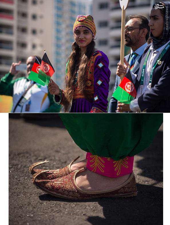 لباس محلی تنها دختر المپیکی افغان که سوژه عکاسان خارجی شده است