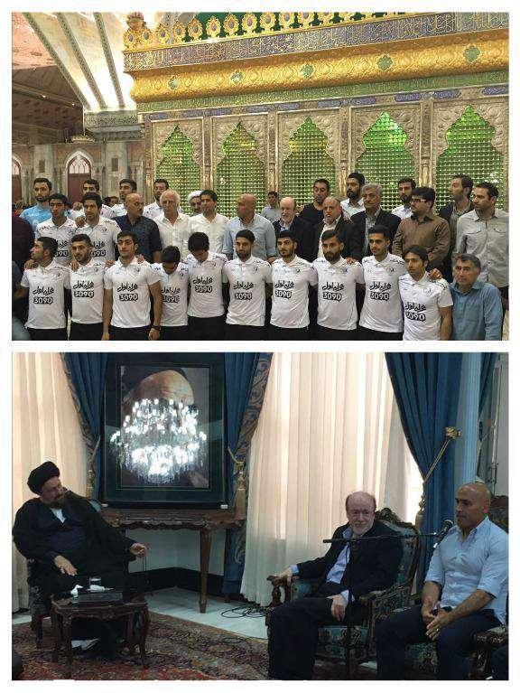 حضور استقلالیها در مرقد امام راحل