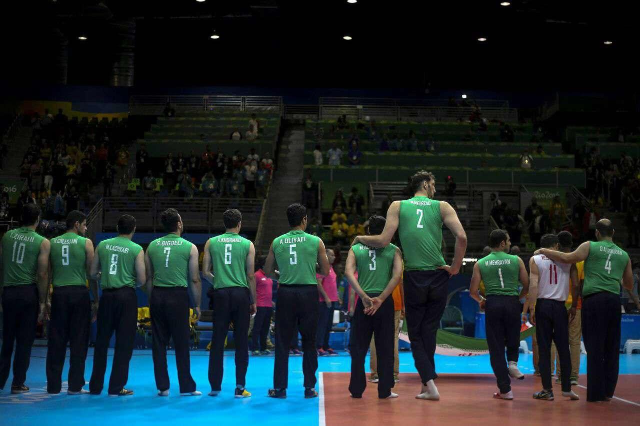 تصویر گاردین از تیم والیبال نشسته مردان ایران در پارالمپیک