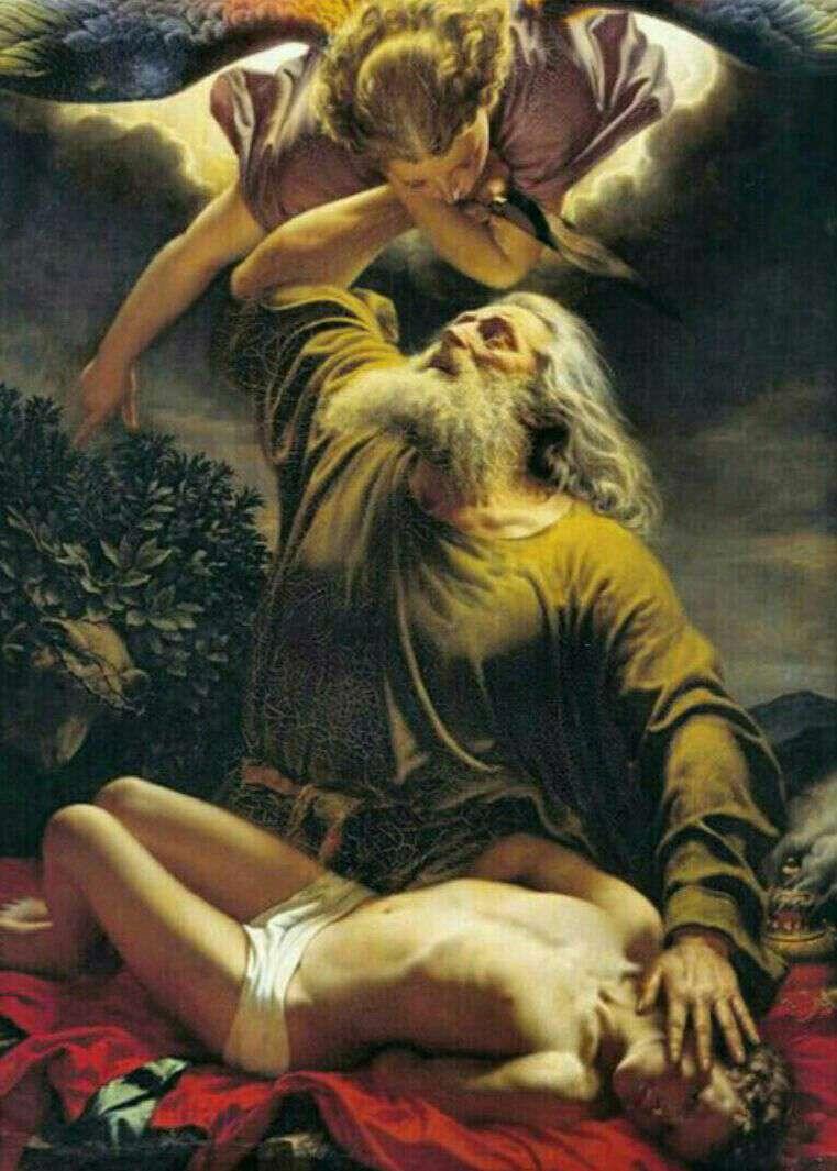 قربانی کردن اسماعیل توسط ابراهیم اثر لئوناردو داوینچی/موزه آرمیتاژ/ سن پترزبورگ