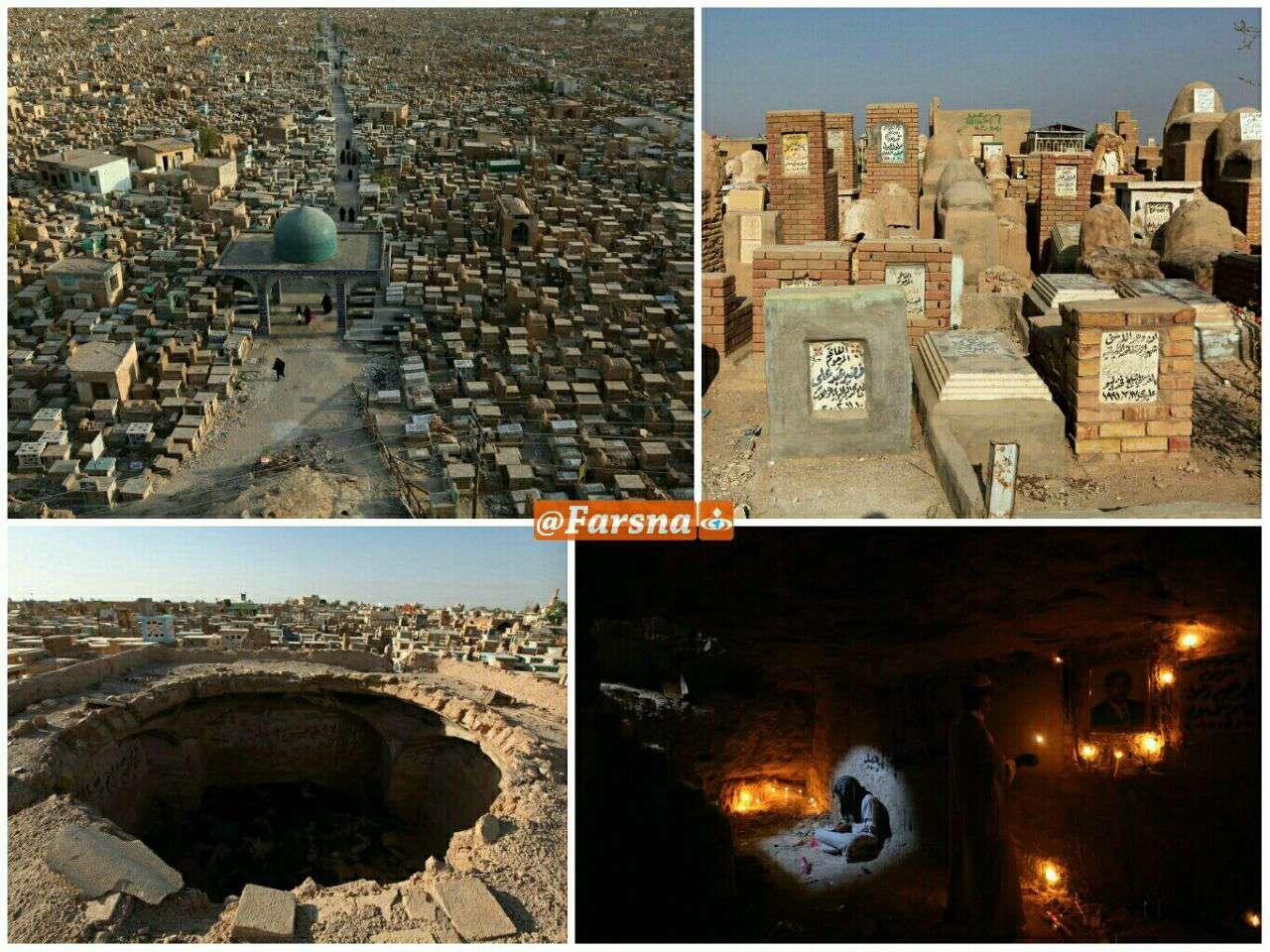 تصاویر رویترز از «وادیالسلام»، بزرگترین قبرستان جهان در عراق