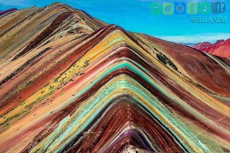 کوه های رنگین کمانی درکشورپرو