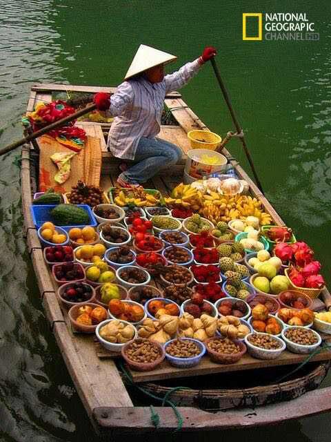 فروشگاهی شناور در ویتنام