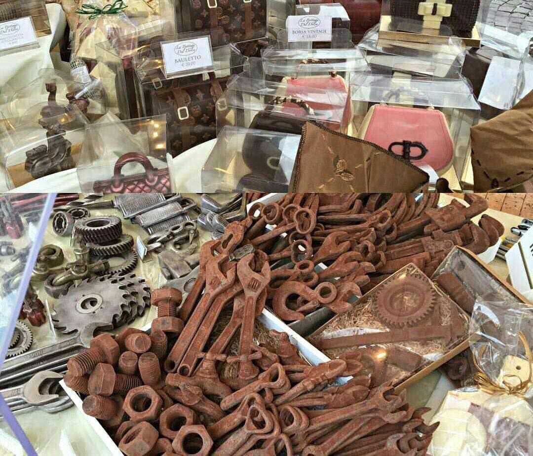 یک مغازه شکلات فروشی در ایتالیاست