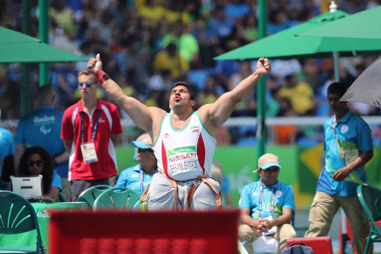 جاوید احسانی شکیب نماینده کشورمان در رشته پرتاب وزنه با پرتابی به طول 14.13 موفق به کسب مدال برنز شد