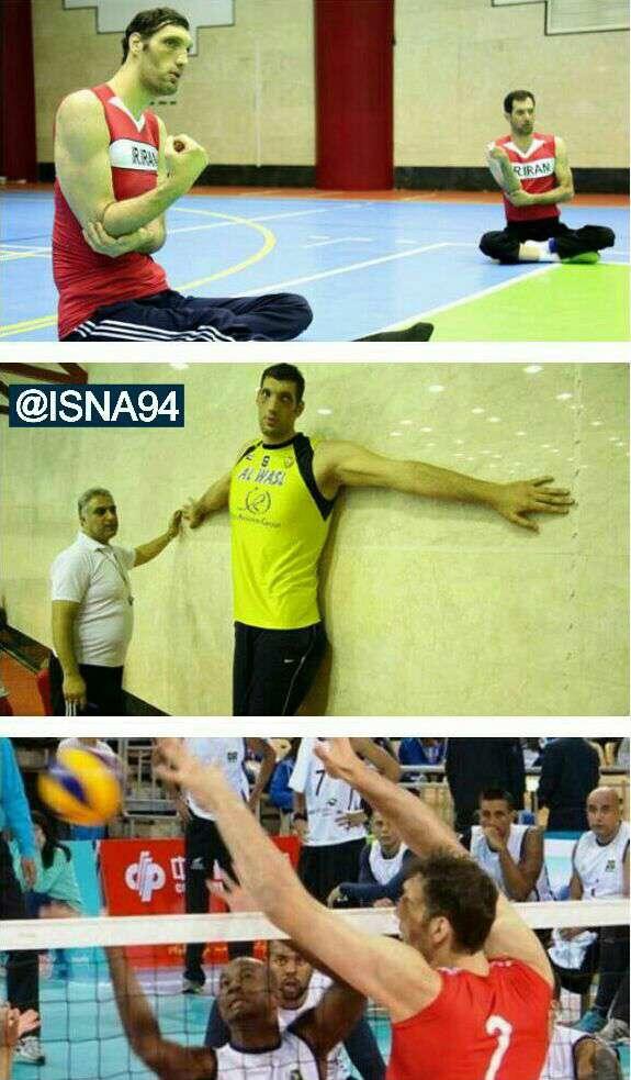 مرتضی مهرزاد بلند قامت ترین مرد پارالمپیک