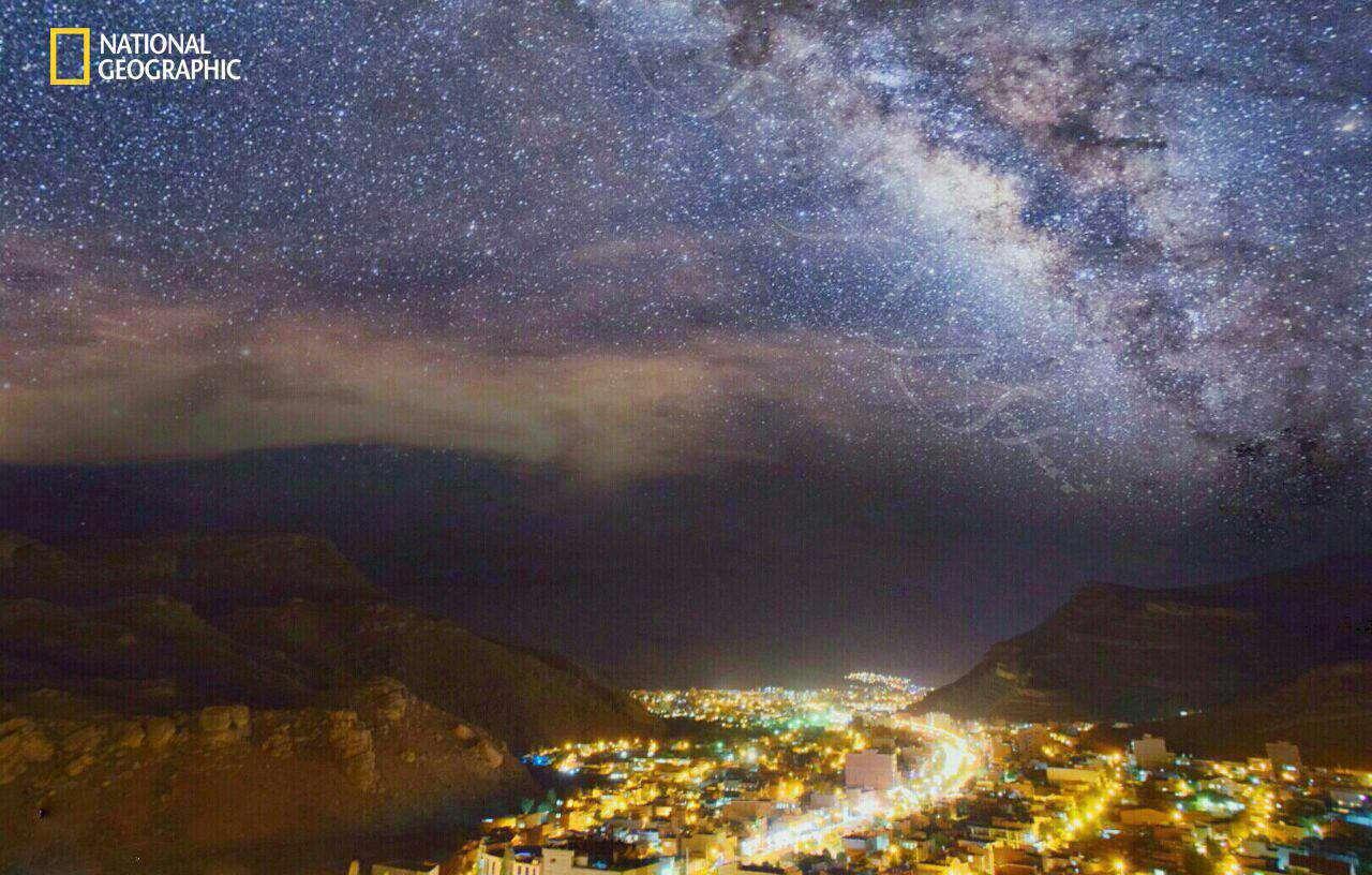 کهکشان راه شیری از آسمان شهرستان ماکو