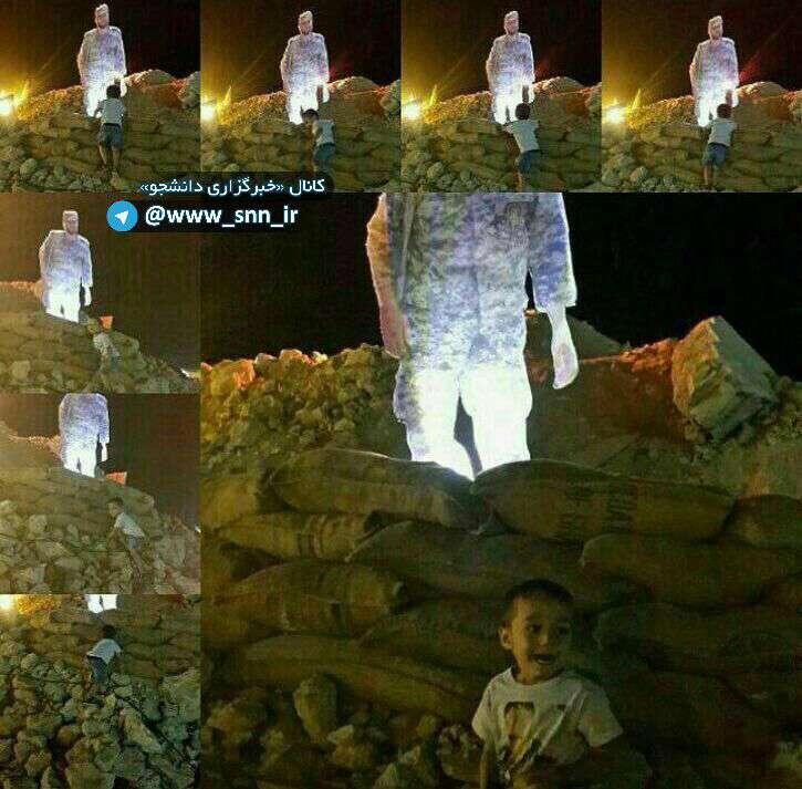 پسر شهید مدافع حرم سعید سامانلو در نمایشگاه هفته دفاع مقدس دوید تا پدرش را در آغوش بگیرد ولی با ماکت وی مواجه شد و...