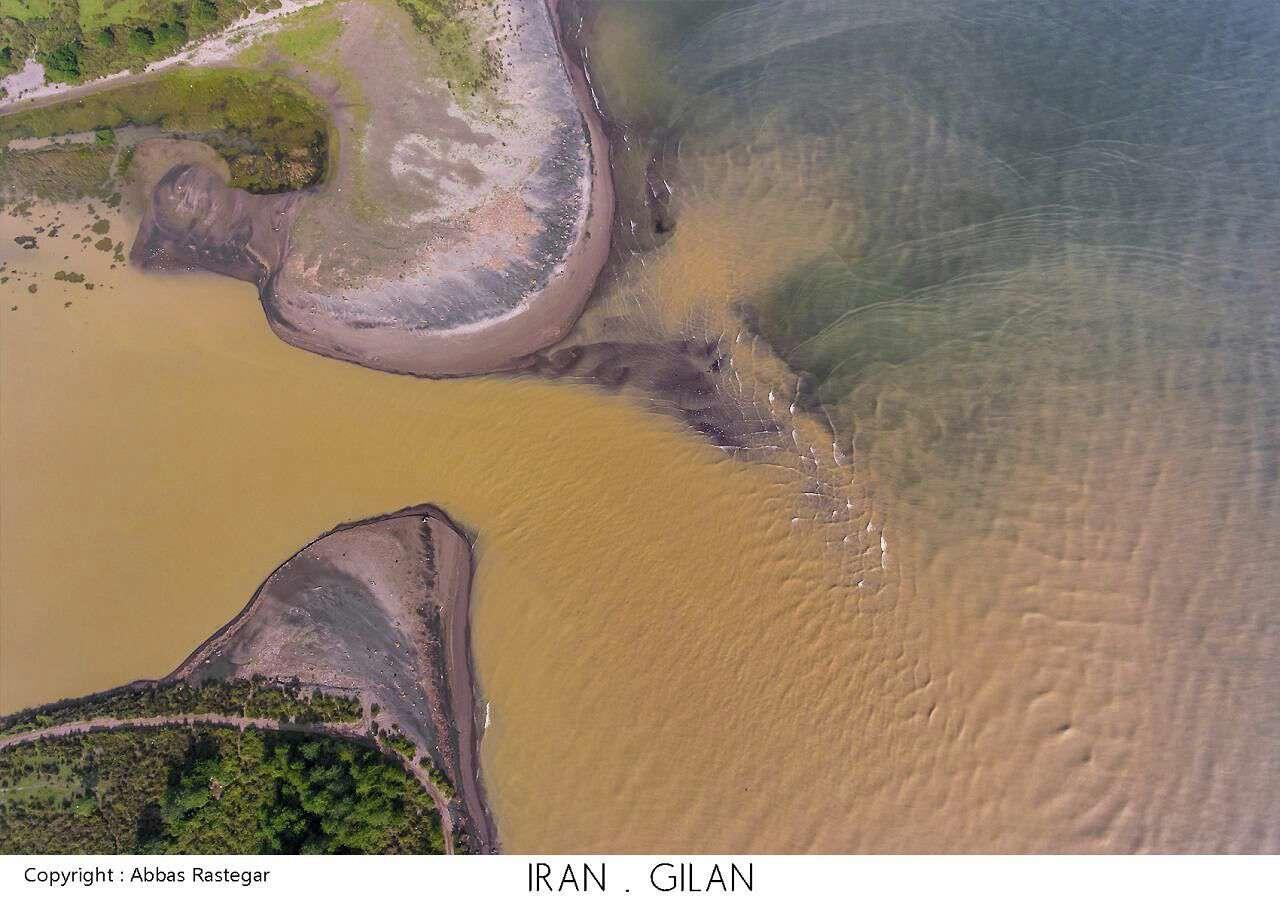 وقتی رودخانه سفید رود وارد دریای کاسپین (خزر) می شود عکاس: عباس.رستگار