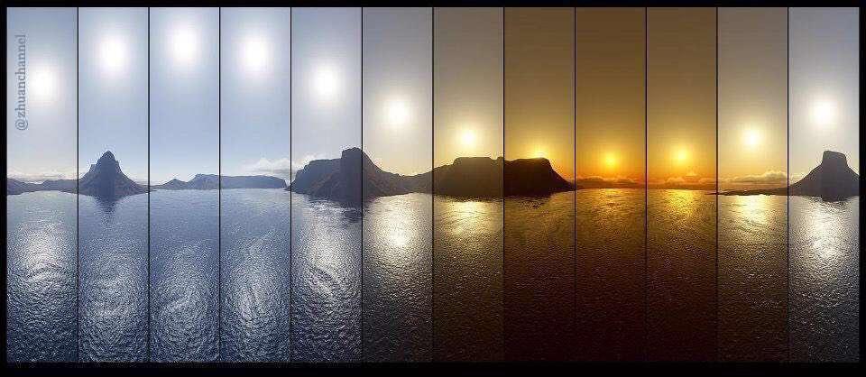 گذشت زمان - 12 ساعت در1 تصویر