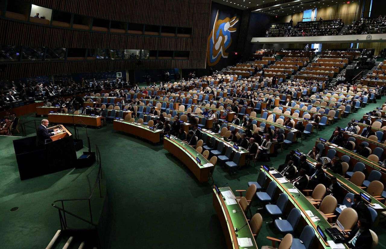 سخنرانی نتانیاهو در مجمع عمومی سازمان ملل برای صندلیهای خالی